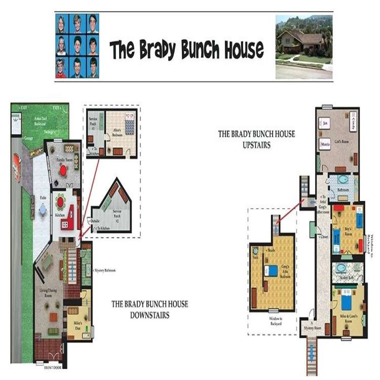 Brady Bunch House Floor Plan Best Of Brady Bunch House Floor Plans Bunch House Blueprints Fresh Bunch