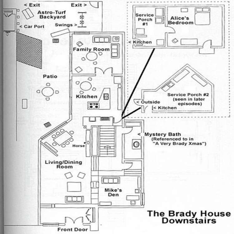 Brady Bunch House Floor Plan Inspirational Inside the Brady Bunch House Midcentury Pinterest House and