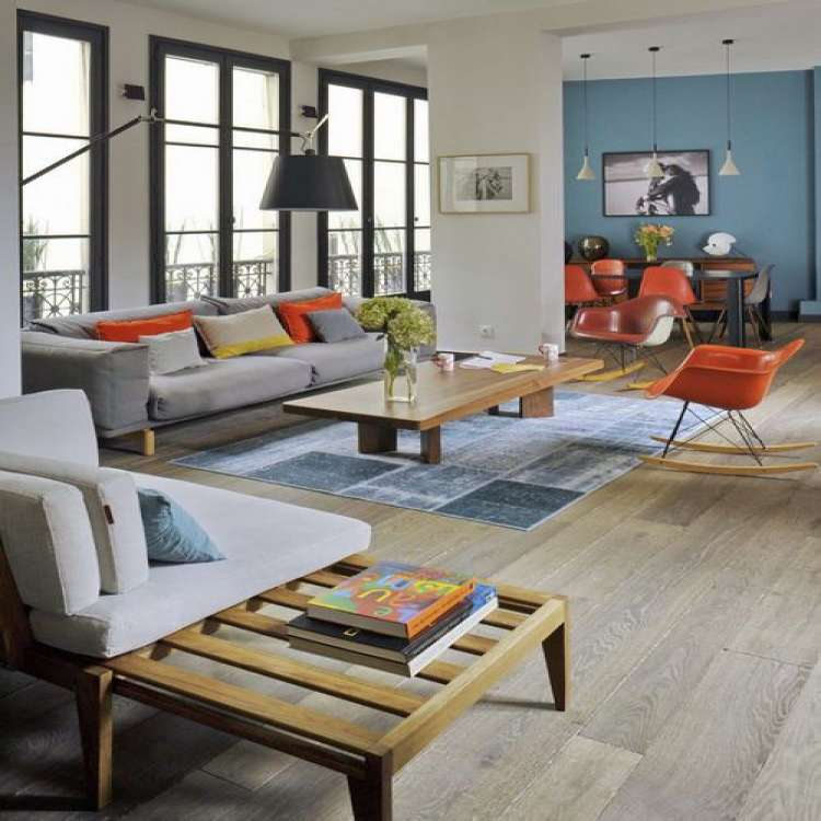 Light Wood Floors Living Room New Eclectic Light Wood Floor Living Room Idea In Paris with White Walls